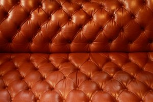 leather lounge after cleaning