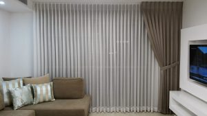 curtain and blinds in lounge room